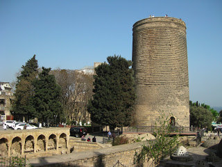 The Maiden Tower, in the Old City of Baku