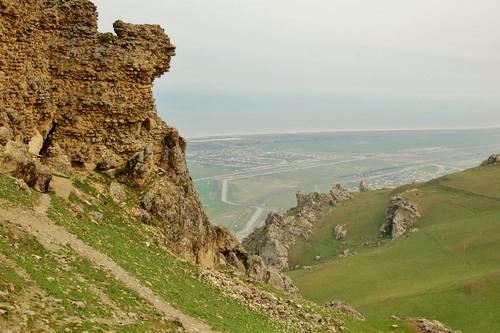 View from Beş Barmaq, looking back toward Baku Azerbaijan
