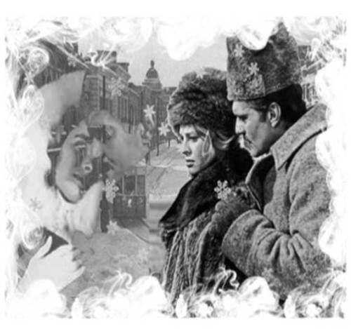 Black & White movie still of Doctor Zhivago