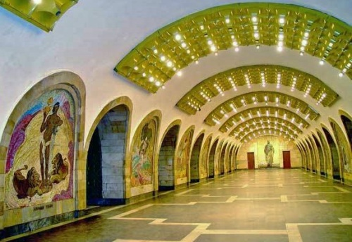 Works of Art: Murals and Mosaics in the Nizami Metro Station, Baku