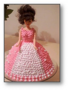 Doll cake for a 4 year old girl