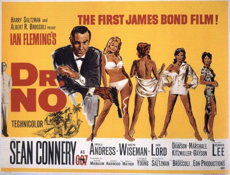 Every man's favorite birthday gift: Ursula Andress, 1962, Dr. No with Sean Connery
