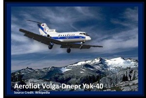 Life Lessons - Ex-Pat Living and the Fear of Flying: Volga-Dnepr Yakolev -40