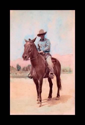Kleenk-lohse, (horse leader) Dan Ward, Navajo Indian Range Rider