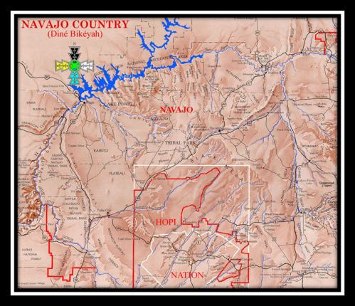 Pioneering Expats: Map of the Navajo Nation