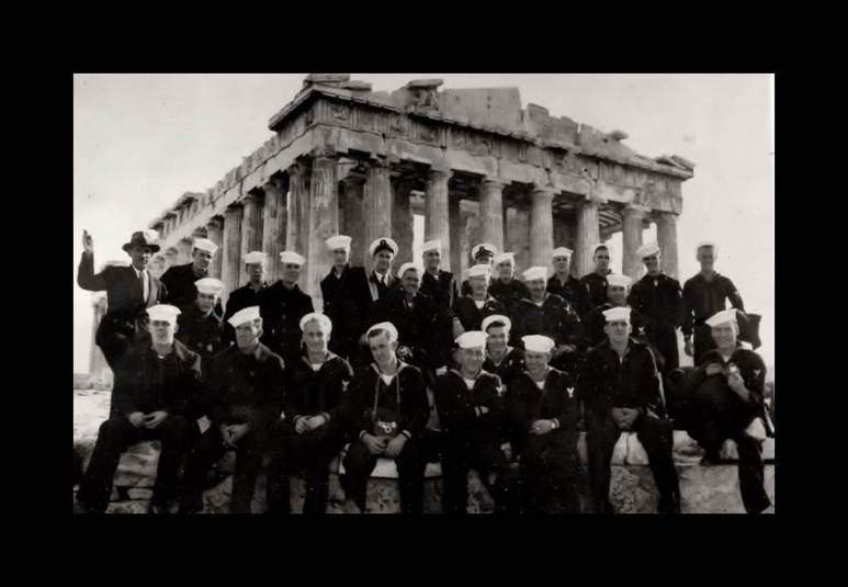 Cross-Cultural Tour: Acropolis- Sailors at the Parthenon