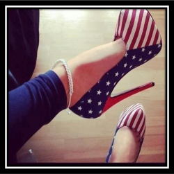 Stars and Stripes heels: Would these be safe in checked luggage in Iran?