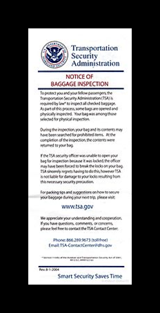TSA Notice of Inspection: Whose Hands Are Touching You?