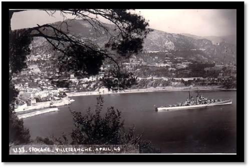 USS Spokane - My Father's 1949 Tour: Villefranche, France