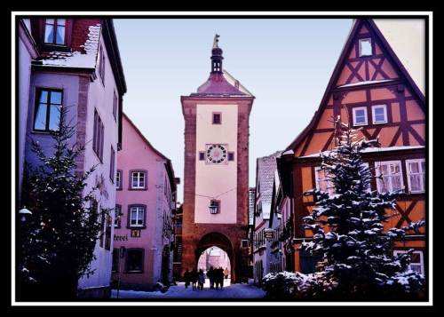 German Christmas Market town gate