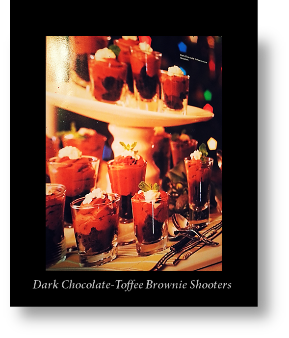 Dark Chocolate -Toffee Brownie Shooters w-border