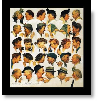 Did You Hear?  Kenneth, The Culture Monk, Is Coming...  Norman Rockwell conversation (Gossip)