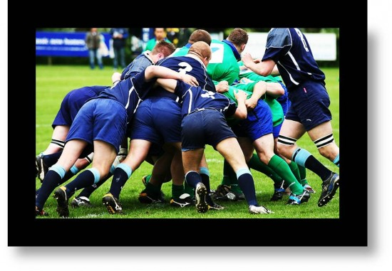 Teamwork. Rugby Scrum means Camaraderie: the Beauty of Belonging