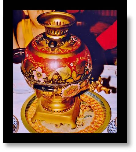 Old Style Samovar for Azerbaijan funeral-Old school... no electricity here
