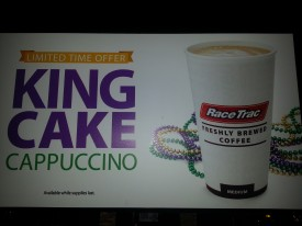 Only in New Orleans will you find Pre-Lenten King Cakes, Mardi Gras, and Cappuccino rolled into one!