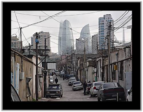 Baku Then And Now: City Streets showing lavish spending that improves only special interests
