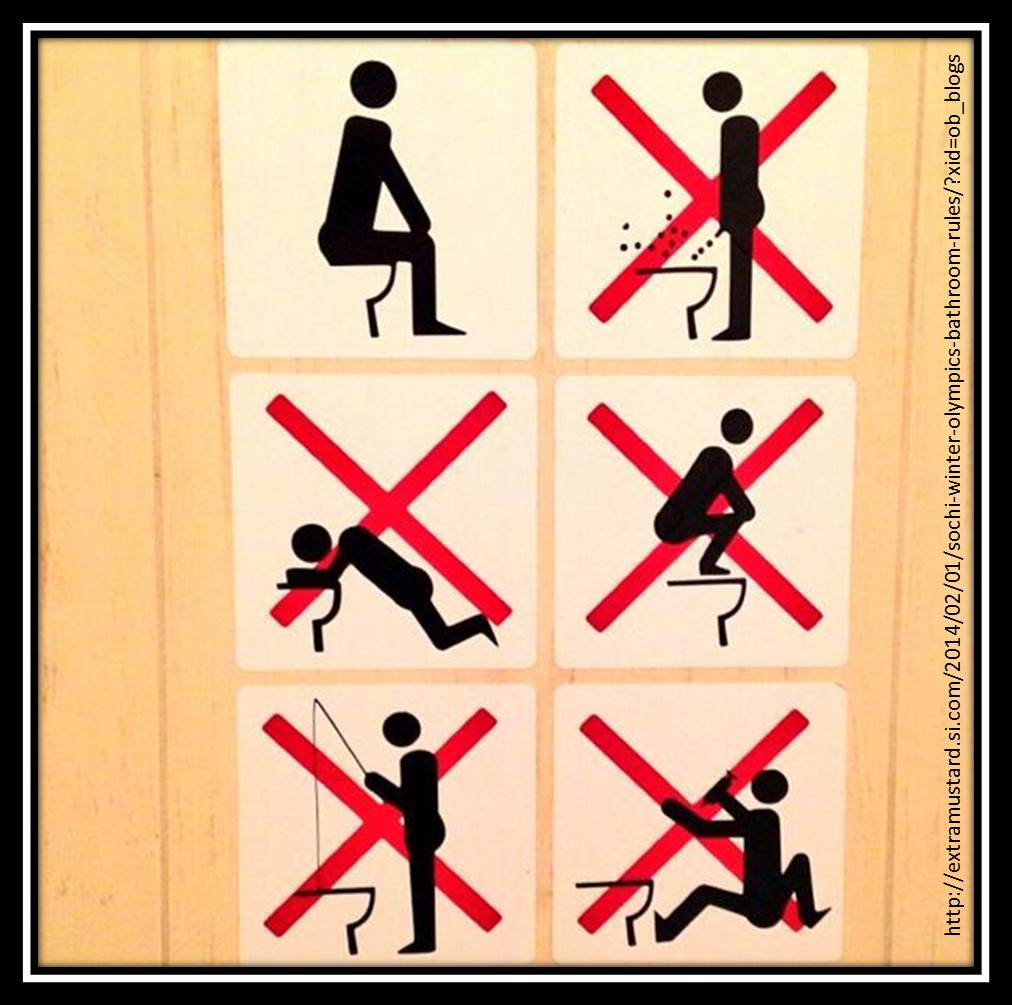 Bathroom Sign Si No countdown to sochi… the good, the bad, and the downright weird