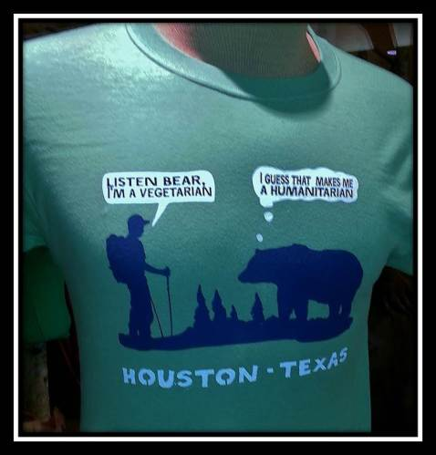 Houston T-Shirt with Bear and Hiker