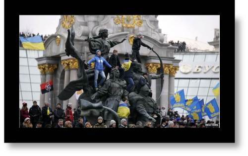 Picture of protestors in Kiev