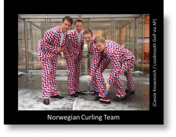 Norway's Curling Team Wild Uniform