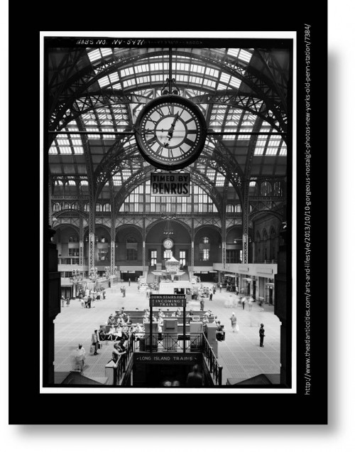 The Original Penn Station, NYC: The Building of an Icon (Train Station Photo ca 1945)