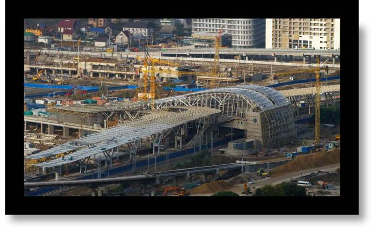 Train Station Construction Photo: Sochi New Train Station construction