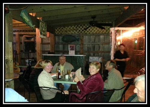 """picture of dinner with friends: Enjoying Low Country specials at the """"Foolish Frog"""""""