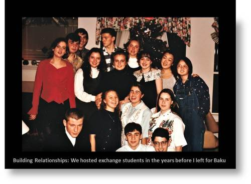 Expat Relationship Building: Holiday Party for all the Exchange students from school.