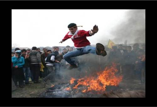 Jumping the Fire for Novruz... Signifies the Ultimate Renewal
