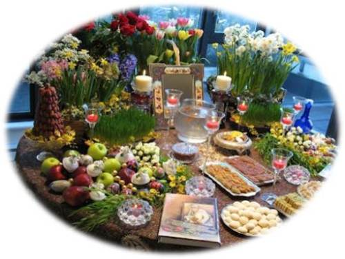 Novruz Haft-Sin Table photo