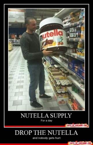 photo of giant Nutella jar