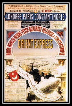 Great Railways of the Golden Age of Travel: The Orient Express (Vintage Travel Poster)