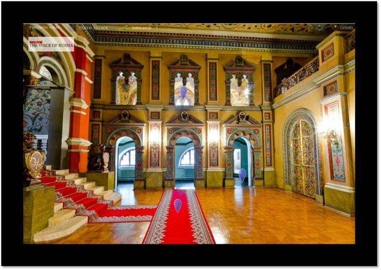 Photo from video clip, Russia Imperial Palace Voice of Russia:   Teremnoy Palace, built for Michael I (ca. 1636)