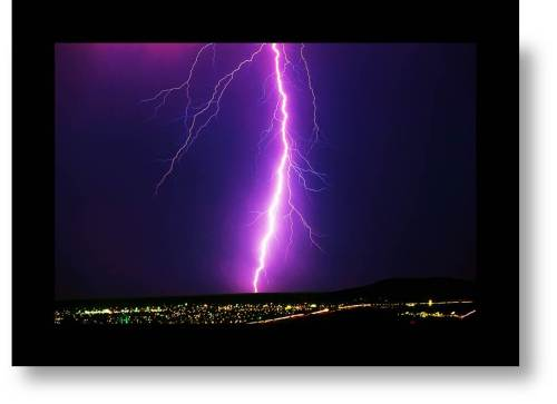 Lightning storm- metaphor for expat retirement dilemma