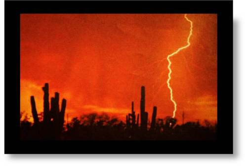 Lightning in the desert- metaphor for expat retirement dilemma