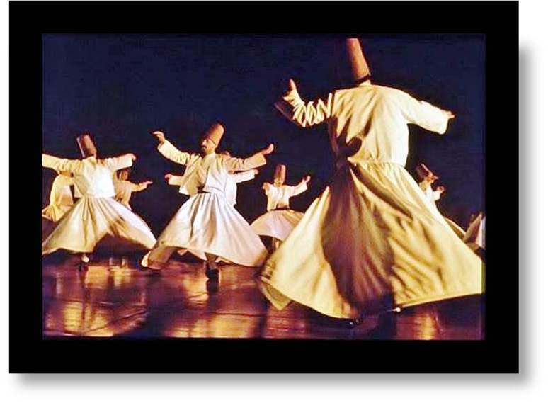 "Can we become more enlightened about culture?  Turkish Rumi Dervish in meditation ( whirling ""dance"")"