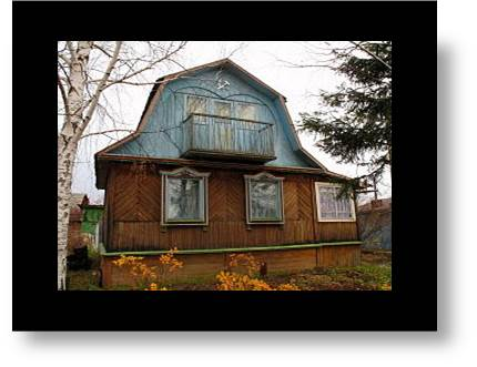 Image of a Russian dacha, vacation cottage