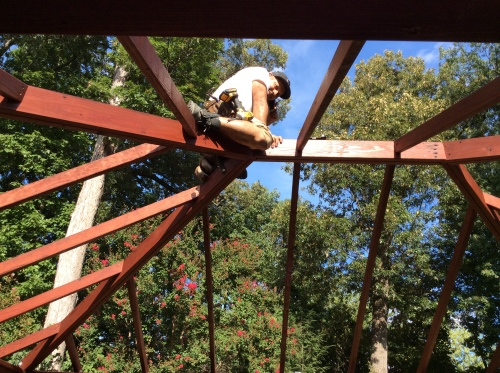 Creating A Space Of Our Own: Putting the Roof On The Pavillion as we complete the deck renovation project