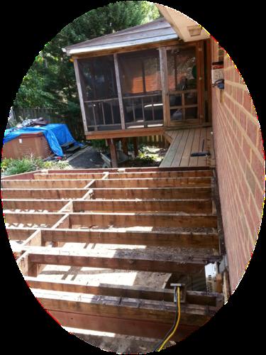 Old deck photo- demolition