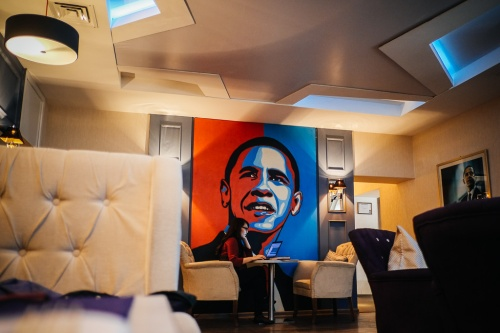 Obama Grill in Bishkek Kyrgyzstan interior photo
