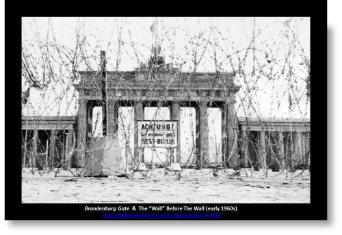 Berlin Wall photo of Brandenburg gate wire