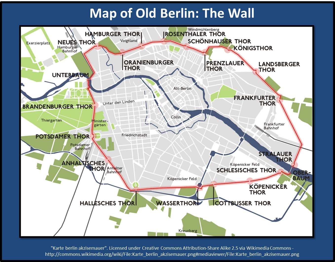 Where Were You Life Lessons - Map of divided berlin