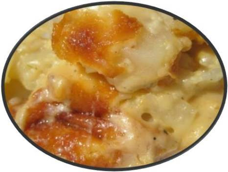This Is What Comfort Smells Like... photo of potatoes and ham casserole