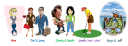 image of travel characters showing how to have adventures