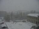 Frozen Fountain Square- Photo image of central city Baku Azerbaijan